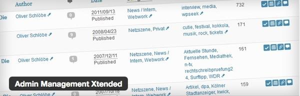 WordPress,プラグイン,管理画面,カスタム,Admin Management Xtended