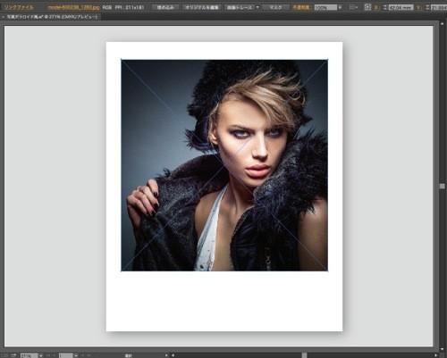 イラストレーター,使い方,画像,写真,ポラロイド